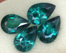 2.18 CTS  GREEN TOPAZ FACETED GEMSTONE PARCEL CG-3087