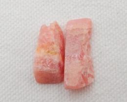27cts 2pcs Rhodonite Earrings Raw beads, stone for earrings making G511