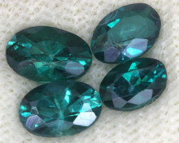 1.83 CTS  GREEN TOPAZ FACETED GEMSTONE PARCEL CG-3088
