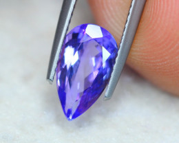 2.05Ct Natural Violet Blue Tanzanite Pear Cut Lot Z578