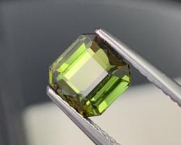 Amazing Yellowish Green VVS Quality Natural Tourmaline 1.52 Carats