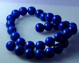 116.20 CT Natural & Unheated Blue Lapis Beads