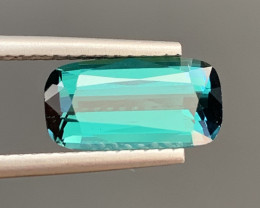 2..44  Carats Natural Indicolite Tourmaline Gemstone