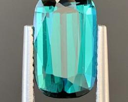 3.02  Carats Natural Indicolite Tourmaline Gemstone