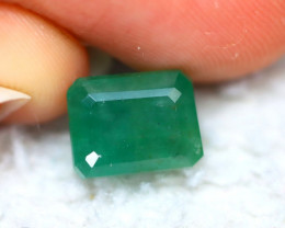 Emerald 3.72Ct Natural Zambia Green Emerald D2625/A38