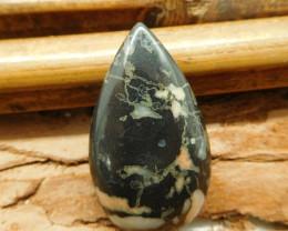 Poppy jasper cabochon bead (G2039)