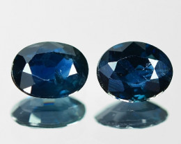 1.03 Cts 2pcs Natural Fancy Blue Sapphire Loose Gemstone
