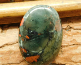African bloodstone cabochon bead (G2043)