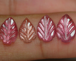 2.905 CRT CARVING LEAF TOURMALIN PARCELS-