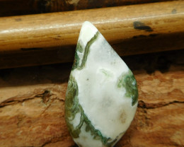 Natural gemstone moss agate cabochon (G2052)