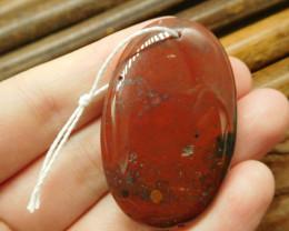 African bloodstone pednant bead (G2061)