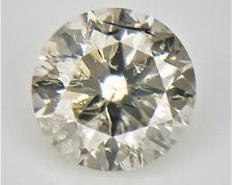 0.09 CT , Salt and Pepper Diamond , Yellow Color Diamond