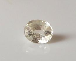 1.62ct light yellow sapphire