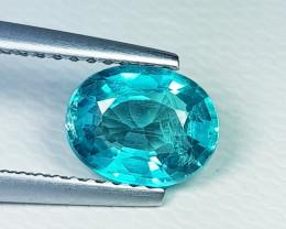 1.41 ct Top Grade Gem Stunning Oval Cut Natural Blue Apatite