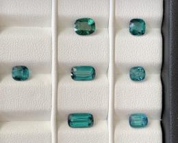 6.70 Carats Natural Indicolite Tourmaline Gemstones Parcel