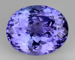 5.53 CT AA TANZANITE HIGH QUALITY GEMSTONE TZ64