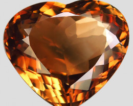 14.82  ct. 100% Natural Topaz Orangey Brown Brazil