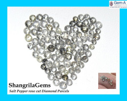 0.25ct parcel 2mm to 3mm Salt Pepper Diamonds Rose cut mixed sizes from 2 t