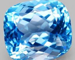 21.09 ct. 100 % Natural Swiss Blue Topaz Top Quality Gemstone Brazil