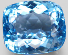 28.04 ct. 100 % Natural Swiss Blue Topaz Top Quality Gemstone Brazil