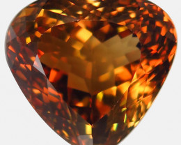 20.95 ct. 100% Natural Earth Mined  Topaz Orangey Brown Brazil