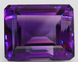 24.15 Ct. Top Quality 100% Natural Rich Purple Amethyst Uruguay Unheated