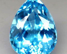 24.87 ct. 100% Natural Earth Mined Top Quality Blue Topaz Brazil