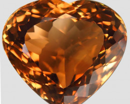 13.87 ct. 100% Natural Earth Mined Topaz Orangey Brown Brazil