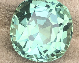 Full reflection.   Measured precision cut for top reflective cutting for the refractive index of tourmaline.  Cut to exacting standards.   Close up shots to show flawless clarity.  Loupe clean I mean sorry.  I can't see above 10X loupe magnification.
