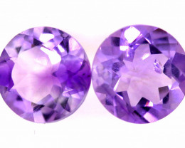 2.20  CTS AMETHYST ROUND  FACETED  PAIRCG - 92