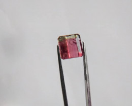 6.95 carat, Square Emerald Bicolored Tourmaline