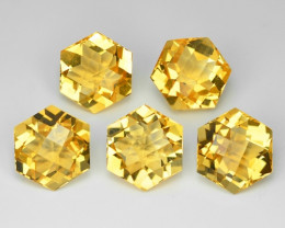 26.10 Cts 5 Pcs Fancy Golden Yellow Color Natural Citrine Gemstones