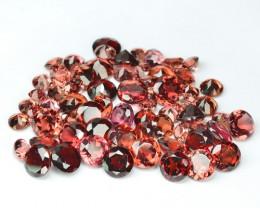 9.52 Cts 65 Pcs Untreated Fancy Color Natural Rhodolite Garnet Gemstones