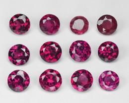 2.00 Cts 12 Pcs Purple Color Natural Rodholite Garnet Gemstone