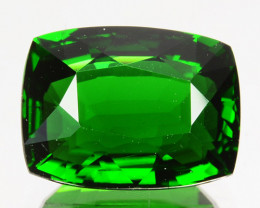 2.90 Cts Natural Chrome Tourmaline Vivid Green Cushion Cut Tanzania