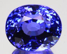 7.37 Cts Natural Sparkling Blue Tanzanite Oval Cut Tanzania
