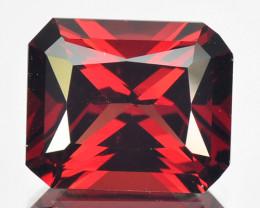 ~RADIANT~ 3.73 Cts Natural Vivid Red Rhodolite Garnet Octagon Cut Mozambiqu