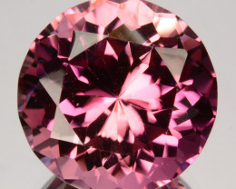 ~CUSTOM CUT ~ 7.67 Cts Natural Nice Pink Tourmaline Round Cut Mozambique