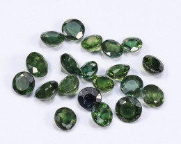 6tcw Natural Green 4-5mm Round Sapphire Parcel