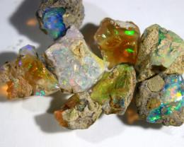 Cts.    41.10ct     Rough parcelEthiopian Opal     186 RF