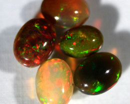 Cts.   3.70      parcel Smoked Ethiopian Caboshon Opal  142    RF