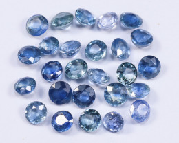5.10tcw Natural Blue 3.3mm Round Ceylon Sapphire Parcel