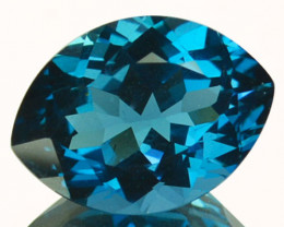 8.18 Cts Beautiful Natural London Blue Topaz Marquise Cut Brazil