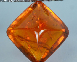 6.28 Cts Natural Spessartite Garnet Sugarloaf Fanta Orange Namibia