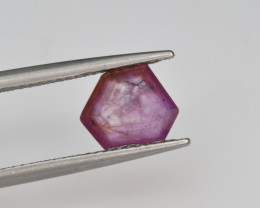 Natural Ruby 1.96 Cts with Hexagonal Pattern from Guinea