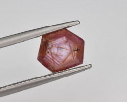 Natural Ruby 2.23 Cts with Hexagonal Pattern from Guinea