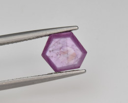 Natural Ruby 2.28 Cts with Hexagonal Pattern from Guinea