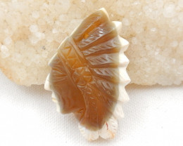 106cts Designer, Indian Carving , Warring agate Indian Pendant Bead G515
