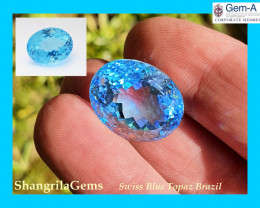 19mm 29ct SWISS BLUE Topaz oval gemstone