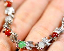 Natural Jadeite Jade 925 Silver Bracelet  Pendant  Earring